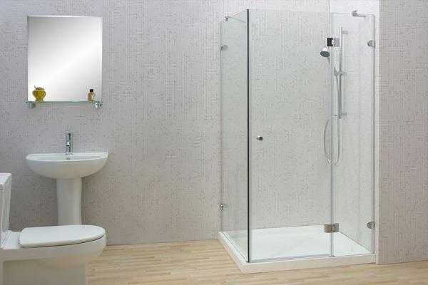 Vách kính tắm mở 90 độ