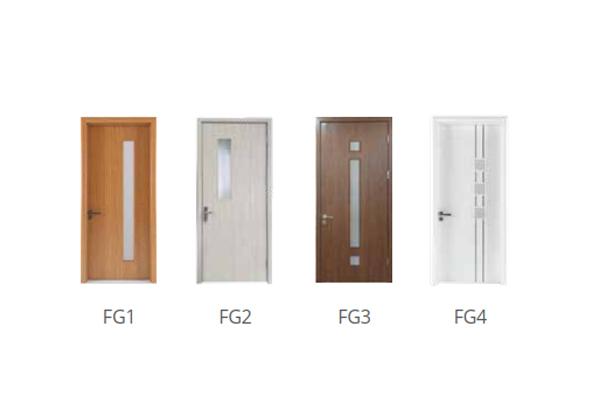 Mẫu cửa ô kính - Flat Glass
